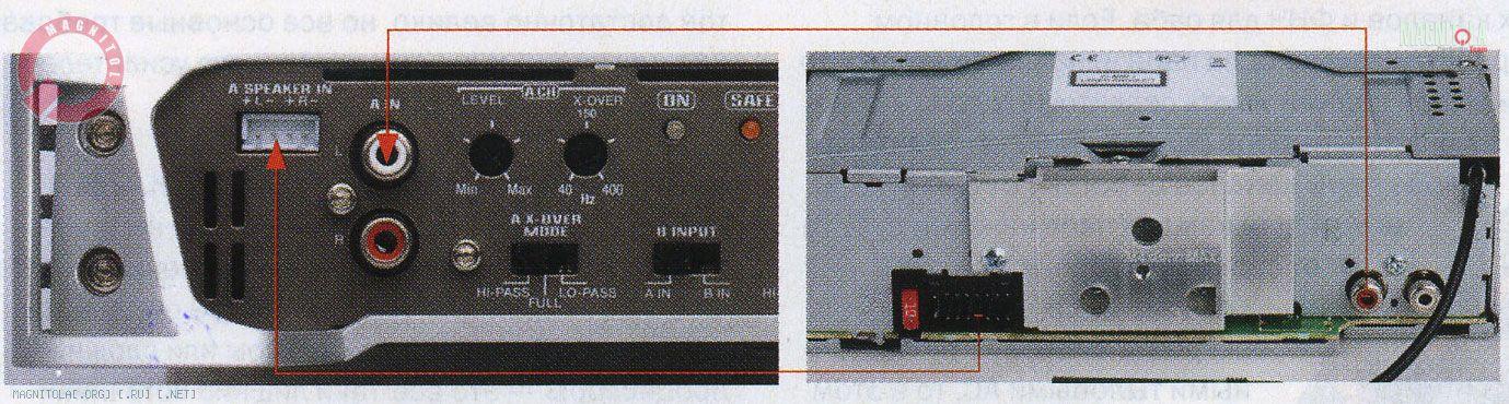 схема подключения автомагнитолы.